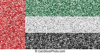 zjednoczony, bandera, arab, kolor, emiraty, textured, ładny