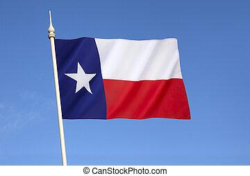 zjednoczony, -, bandera, stany, stan, ameryka, texas