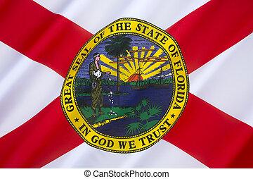 zjednoczony, floryda, -, stany, bandera, ameryka