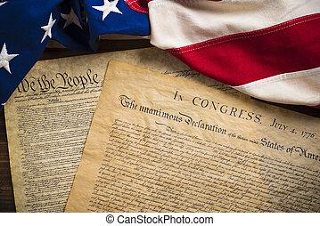 zjednoczony, founding, rocznik wina, amerykańskie stany, bandera, dokumenty