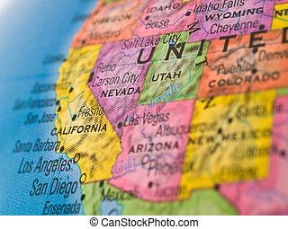 zjednoczony, globalny, -, ognisko, stany, kalifornia, western, nevada, studia