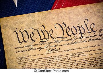 zjednoczony, konstytucja, rocznik wina, amerykańskie stany, bandera