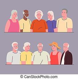 zjednoczony, obrazy, ludzie, stary