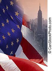 zjednoczony, -, stany, york, nowy, ameryka