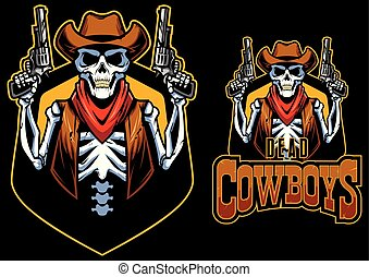 zmarły, maskotka, kowboje