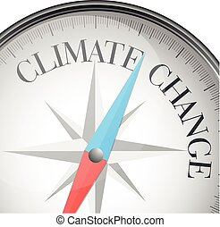 zmiana, klimat, busola