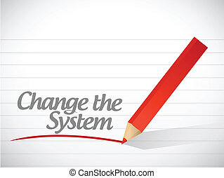 zmiana, pisemny, wiadomość, system, ilustracja