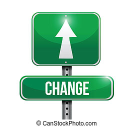 zmiana, projektować, droga, ilustracja, znak