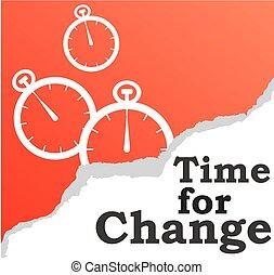 zmiana, tło, czas