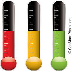 zmiana, termometr