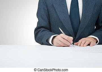 znak, kontrakt