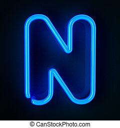 znak, neon, litera n