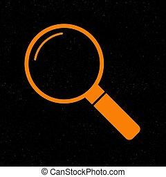 znak, pomarańcza, czarnoskóry, prosperować, ikona, tło., illustration.
