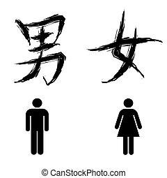 znak, toaleta