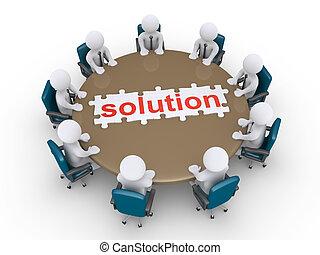 znaleźć, spotkanie, rozłączenie, biznesmeni