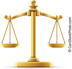 zrównoważony, sprawiedliwość czyszczą z łusek