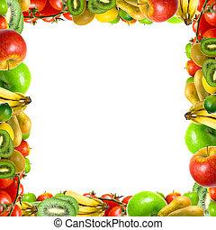 zrąb, warzywa, owoce