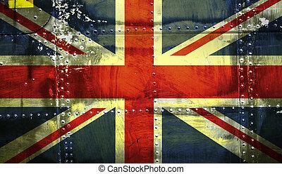 zrzeszeniowa bandera, grunge, lewarek