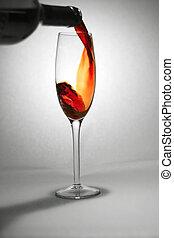 zsyp czerwone wino