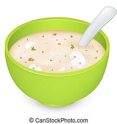 zupa, grzyb, śmietanka
