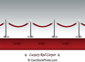 związać, dywan, luksus, bariera, czerwony