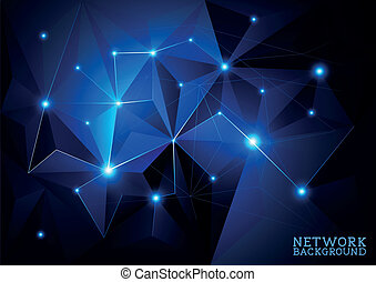 związany, sieć, tło