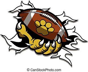 zwierzę, pazur, dzierżawa piłka nożna, maskotka